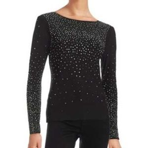 Cece by Cynthia Steffe Black Studded Long Sleeve